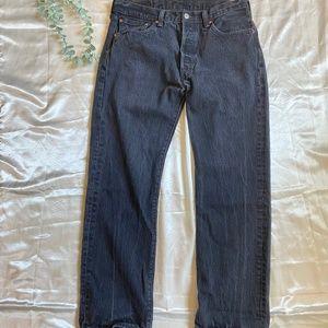 Levi Strauss Black Wash 501 Jeans W33 L30